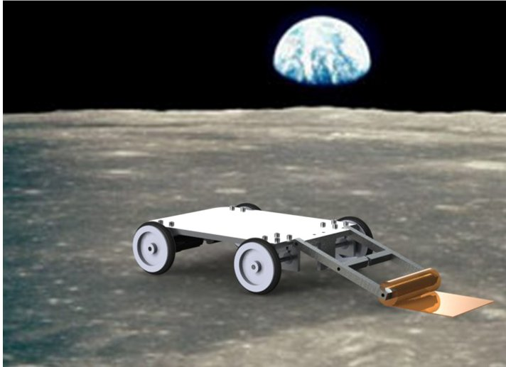 Rover on Lunar Surface CGI